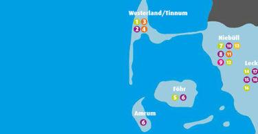 Landkarte zur Übersicht der Standorte